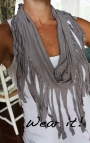 "DIY Monday: ""No Sew"" Fringed Infinity Scarf"
