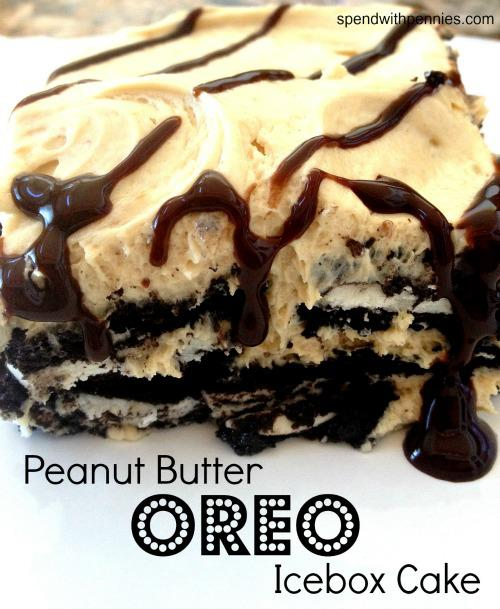 Peanut Butter Oreo Icebox cake | The Rays Of Sunshine